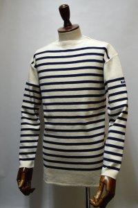 FILEUSE D'ARVOR BASQUE SHIRT Made in France バスクシャツ ヴィンテージリブ ECRU×MARINE