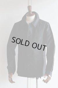 1940s Vintage French Moleskin Jacket MONTMARTRE Black モールスキンジャケット 黒