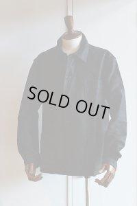 1940s〜50s Vintage French Moleskin Jacket Le Mont St Michel Black モールスキンジャケット 黒