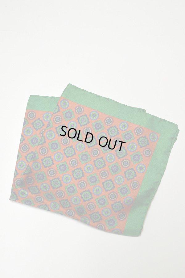 画像1: ASCOT アスコット ポケットチーフ 小紋柄 シルク100%