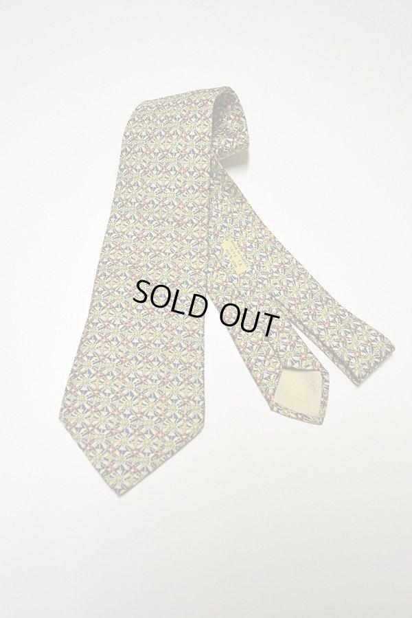 画像1: 1970'S〜1980'S Vintage Hermes Silk Print Tie ヴィンテージエルメスネクタイ