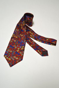 1970'S〜1980'S Vintage LANVIN Silk Print Tie ヴィンテージランバンネクタイ