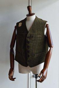 1920s Vintage French Corde Vest デッドストック