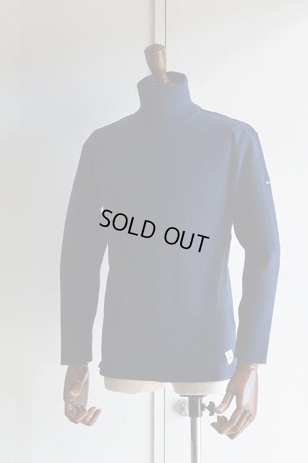 画像1: FILEUSE D'ARVOR TURTLE NECK BASQUE SHIRT Made in France フィールズダルボー タートルネックバスクシャツ ヴィンテージリブ