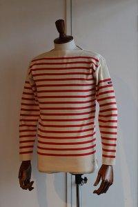 FILEUSE D'ARVOR BASQUE SHIRT Brest Made in France フィールズダルボー バスクシャツ ブレスト ヴィンテージリブ ECRU × ROUGE