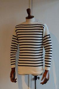 FILEUSE D'ARVOR BASQUE SHIRT Brest Made in France フィールズダルボー バスクシャツ ブレスト ヴィンテージリブ PURE × BLACK