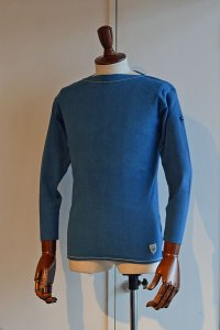 FILEUSE D'ARVOR BASQUE SHIRT Brest Made in France フィールズダルボー バスクシャツ ブレスト ヴィンテージリブ PASTEL BLUE