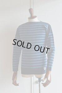 FILEUSE D'ARVOR BASQUE SHIRT Brest Made in France フィールズダルボー バスクシャツ ブレスト ヴィンテージリブ MARINE×PASTEL BLUE
