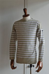 FILEUSE D'ARVOR BASQUE SHIRT Made in France バスクシャツ ヴィンテージリブ SAND × BLANC