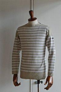 FILEUSE D'ARVOR BASQUE SHIRT Brest Made in France フィールズダルボー バスクシャツ ブレスト ヴィンテージリブ SAND × BLANC