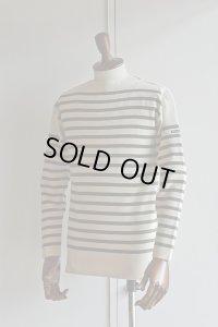 FILEUSE D'ARVOR BASQUE SHIRT Brest Made in France フィールズダルボー バスクシャツ ブレスト ヴィンテージリブ ECRU × OLIVE