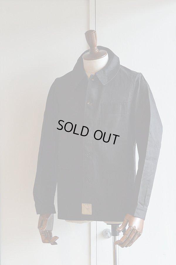 画像1: 1930s〜40s デッドストックフレンチブラックモールスキンジャケット Vintage French Black Moleskin Jacket Dead Stock