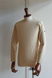 フィールズダルボー バスクシャツ ブレスト ヴィンテージリブ フランス製 FILEUSE D'ARVOR BASQUE SHIRT Brest Made in France ECRU