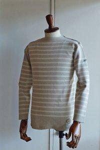カネル バスクシャツ ミッドシップ ヴィンテージリブ フランス製 Kanell industriel BASQUE SHIRT Midship Made in France BEIGE × OATMEAL