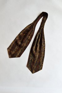 1960'S ヴィンテージトゥータルアスコットタイ 幾何学模様 Vintage TOOTAL Ascot Tie Geometric Pattern MADE IN ENGLAND