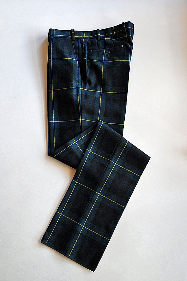 画像1: Bernard Zins Tartan Check pantalon ベルナール ザンス タータンチェック パンタロン トラウザーズ