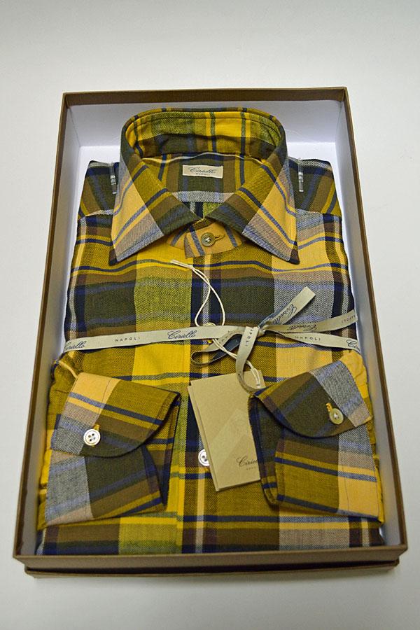 画像1: Ciriello チリエッロ ドレスシャツ Vintage Fabric ヴィンテージ生地