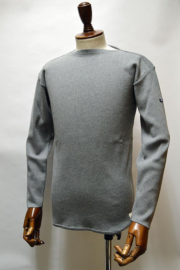 画像1: FILEUSE D'ARVOR BASQUE SHIRT Brest Made in France フィールズダルボー バスクシャツ ブレスト ヴィンテージリブ MELANGE MID GRAY