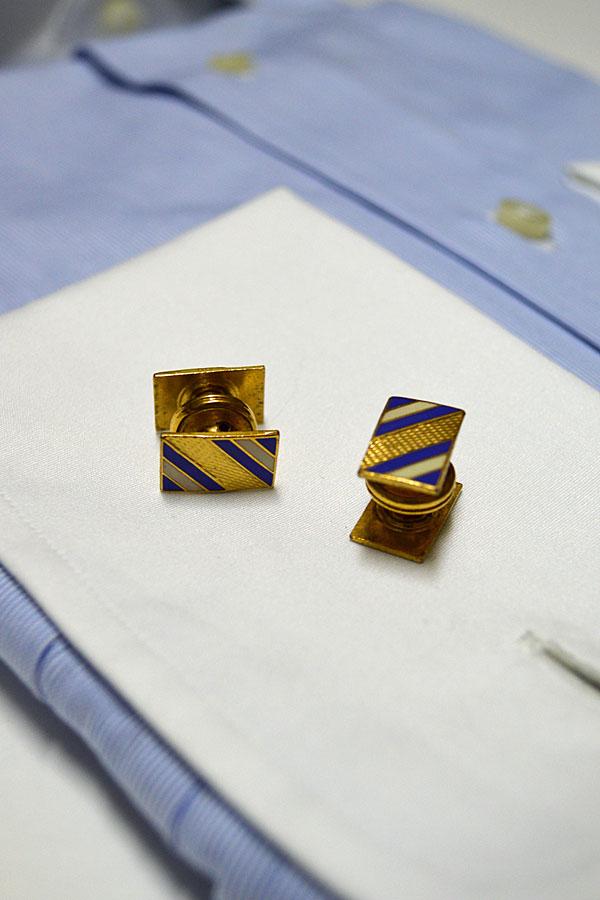 画像1: 1920'S〜1930'Sヴィンテージカフリンクス エナメル スナップ式 Made in England