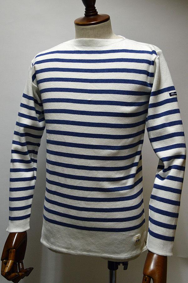 画像1: FILEUSE D'ARVOR BASQUE SHIRT Brest Made in France フィールズダルボー バスクシャツ ブレスト ヴィンテージリブ PURE × VINTAGE BLUE