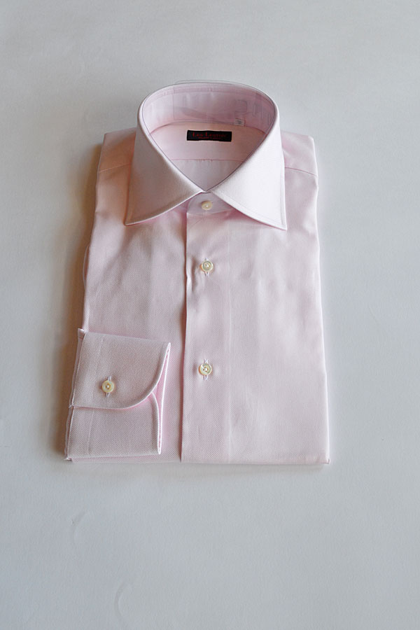画像1: LES LESTON ROYAL OXFORD SHIRTS 100/2 WIDE COLLAR PINK
