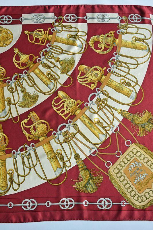 画像1: 1972'S エルメス カレ ヴィンテージスカーフ Hermes Carre Cliquetis Julie Abadie 大判シルク