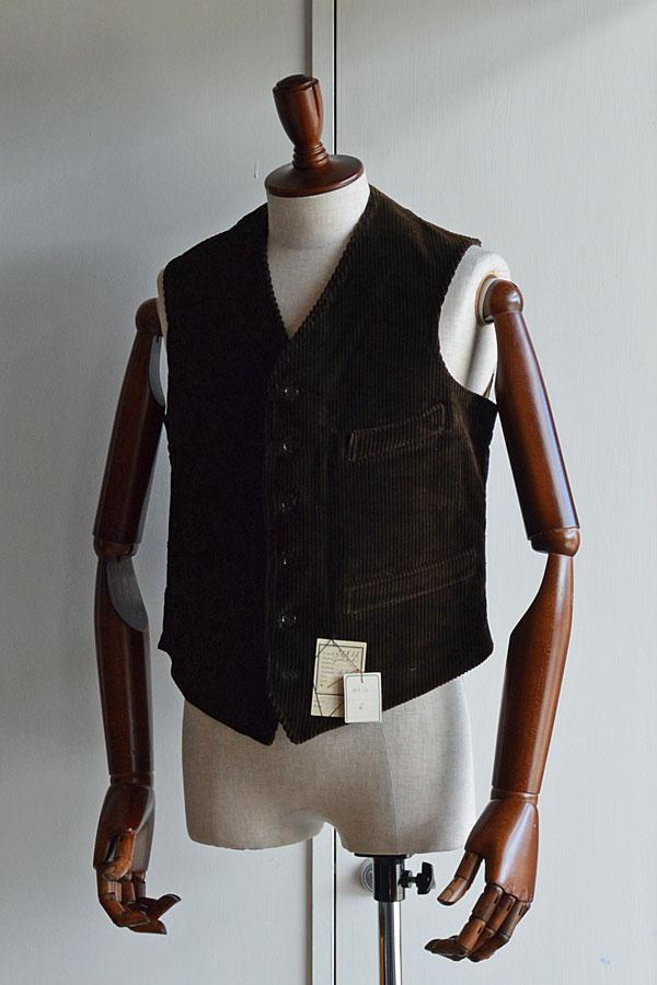 画像1:  1910s〜20s Antique French Corde Vest デッドストック