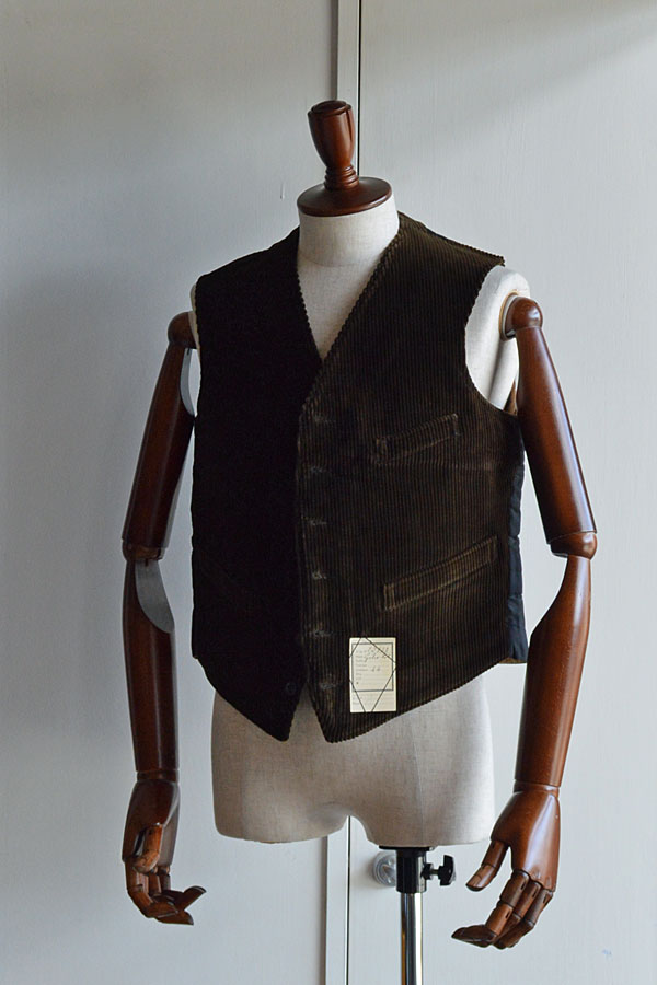 画像1: 1910s〜20s Antique French Corde Vest デッドストック