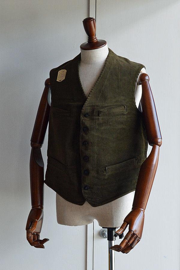 画像1: 1920s Vintage French Corde Vest デッドストック