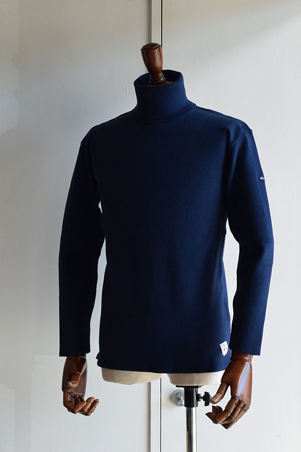 画像1: FILEUSE D'ARVOR TURTLE NECK BASQUE SHIRT Made in France タートルネックバスクシャツ ヴィンテージリブ