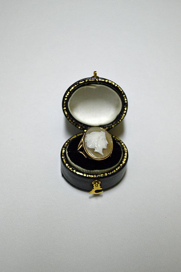 画像1: 1900's Victorian antique cameo rings 9ct アンティークカメオリング