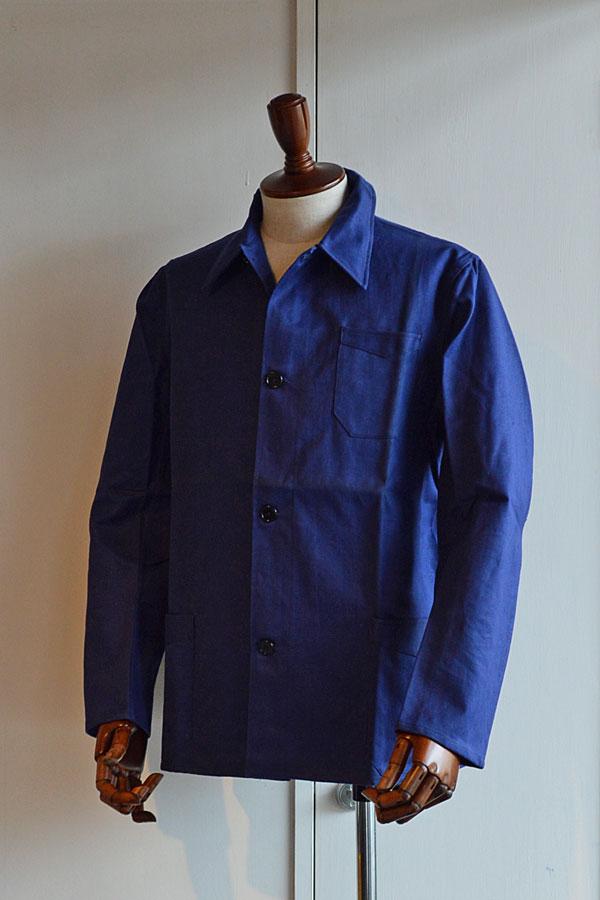 画像1: 1940s デッドストック フレンチワークジャケッ ト フレンチコットンリネン  Vintage French Work Jacket Dead Stock