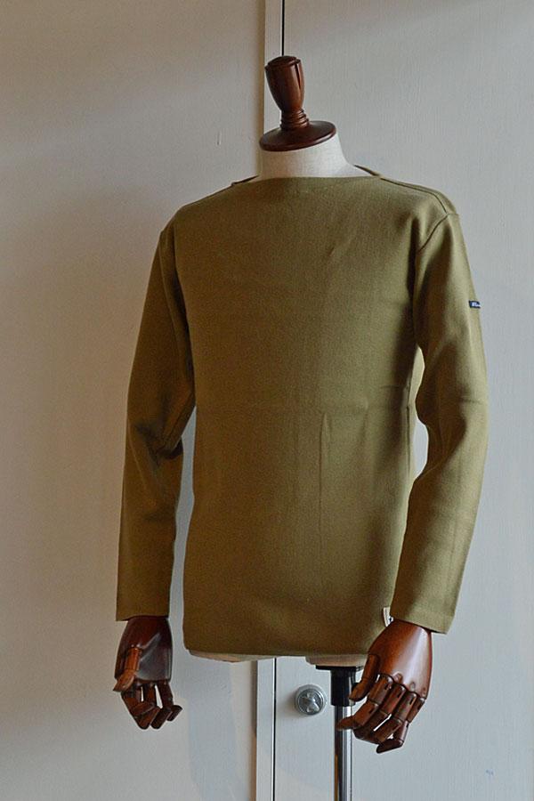 画像1: FILEUSE D'ARVOR BASQUE SHIRT Brest Made in France フィールズダルボー バスクシャツ ブレスト ヴィンテージリブ KHAKI