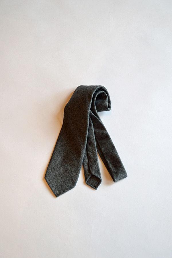 画像1: Maison Chato Lufsen ウールタイ Vintage Fabric Fox Brothers