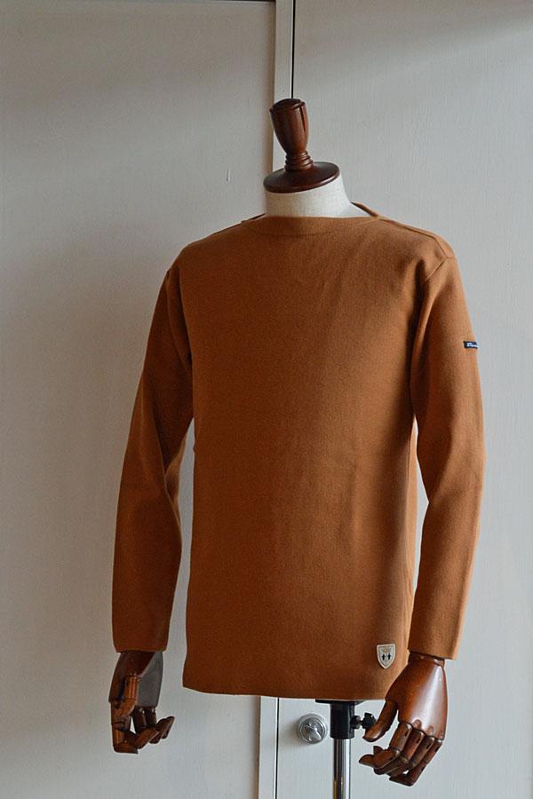 画像1: FILEUSE D'ARVOR BASQUE SHIRT Brest Made in France フィールズダルボー バスクシャツ ブレスト ヴィンテージリブ CAMEL