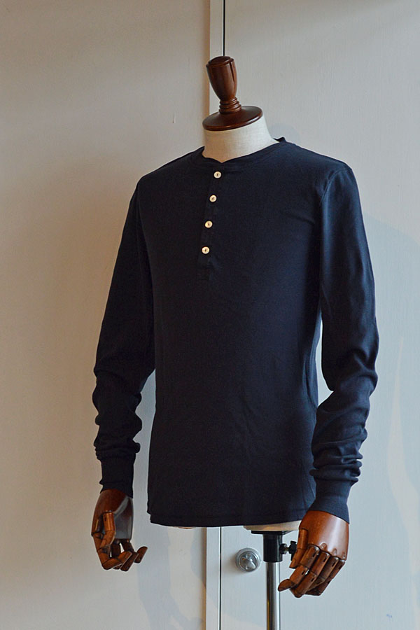 画像1: Schiesser Henley Neck Long Sleeve KARL HEINZ Blueblack シーサー