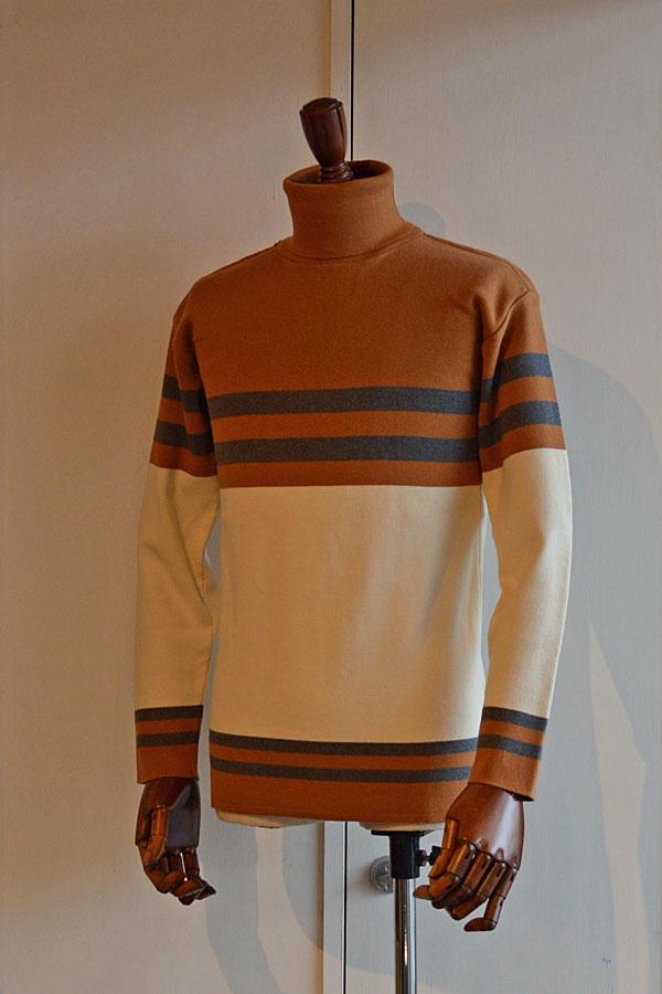 画像1: FILEUSE D'ARVOR TURTLE NECK BASQUE SHIRT Made in France タートルネック バスクシャツ ヴィンテージリブ HAVERSACK ATTIRE別注