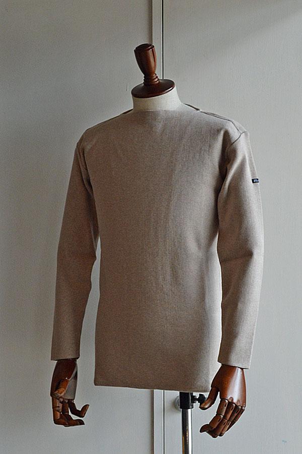 画像1: FILEUSE D'ARVOR BASQUE SHIRT Brest Made in France フィールズダルボー バスクシャツ ブレスト ヴィンテージリブ BEIGE