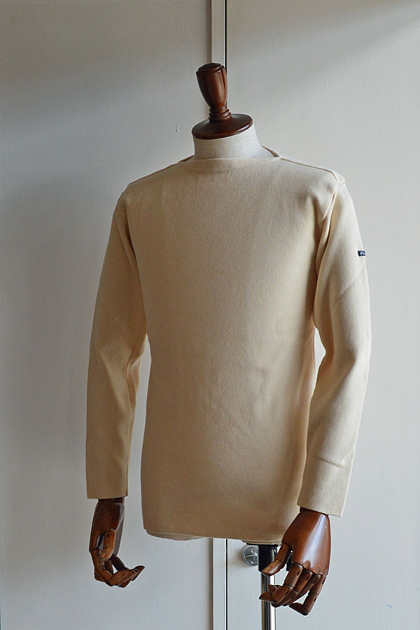 画像1: フィールズダルボー バスクシャツ ブレスト ヴィンテージリブ フランス製 FILEUSE D'ARVOR BASQUE SHIRT Brest Made in France ECRU