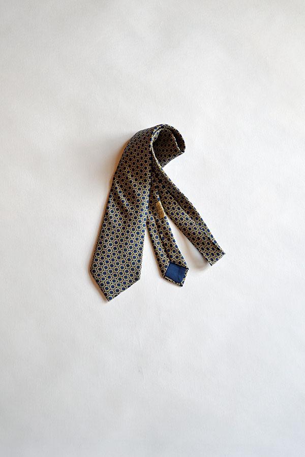 画像1: 1970'S Vintage Hermes Silk Print Tie ヴィンテージエルメスネクタイ