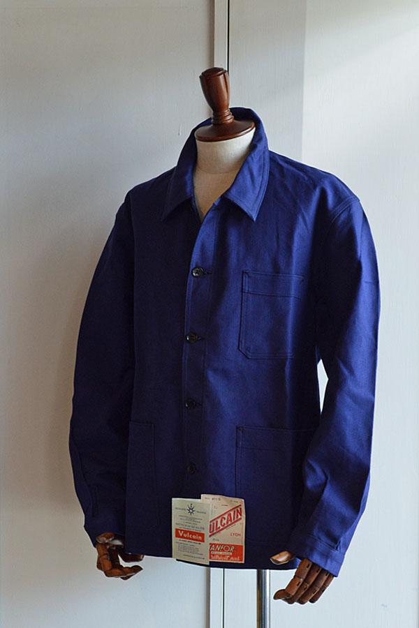 画像1: 1940s〜50s デッドストックヴァルカンフレンチワークジャケット フレンチツイル Vintage French Work Jacket Dead Stock Vulcain