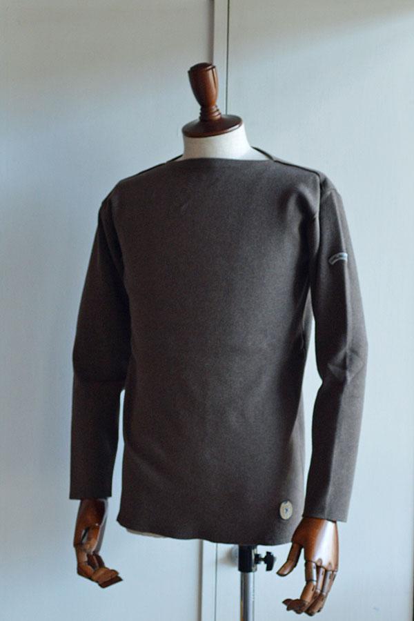 画像1: カネル バスクシャツ ミッドシップ ヴィンテージリブ フランス製 Kanell industriel BASQUE SHIRT Midship Made in France CHOCOLAT