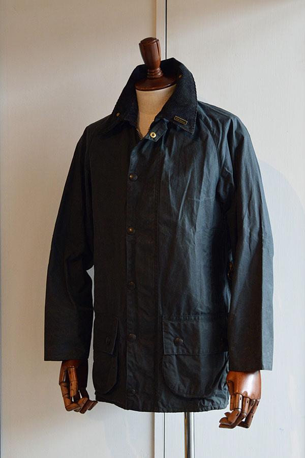 画像1: 1980s ヴィンテージバブアービューフォート 2ワラント オイルドジャケット ネイビー 34 Vintage Barbour Beaufort 2Warrant Oiled Jacket Navy